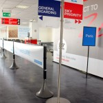 Using the Tigrox queue management system, Cardiff Airport easily manages multiple boarding queues.